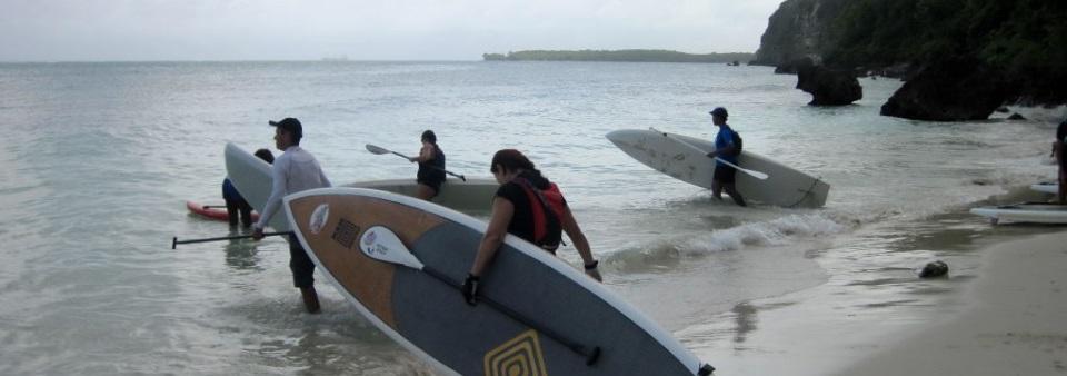 Départ pour un downwind en Guadeloupe